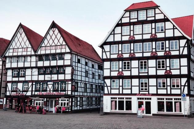 Weiße Fachwerkhäuser Soest