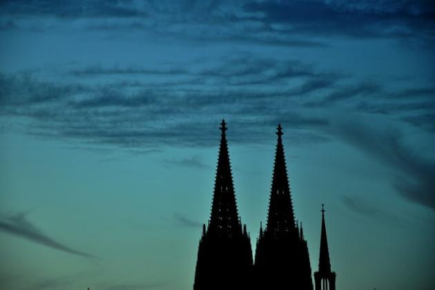 Spitzen Kölner Dom Morgendämmerung